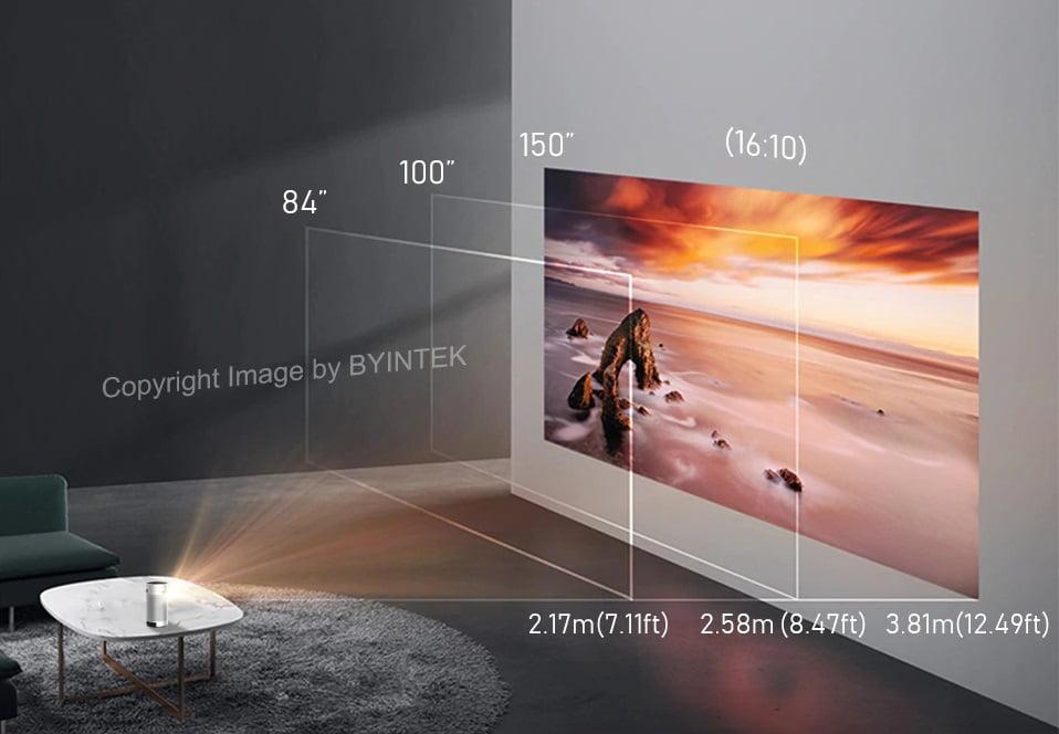 Byintek P7 Pocket Smart Projector mini beamer projector draagbaar met accu