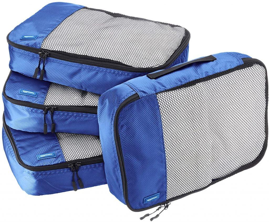 Amazon Basics Packing Cubes 4 delig - Goedkope packing cube set