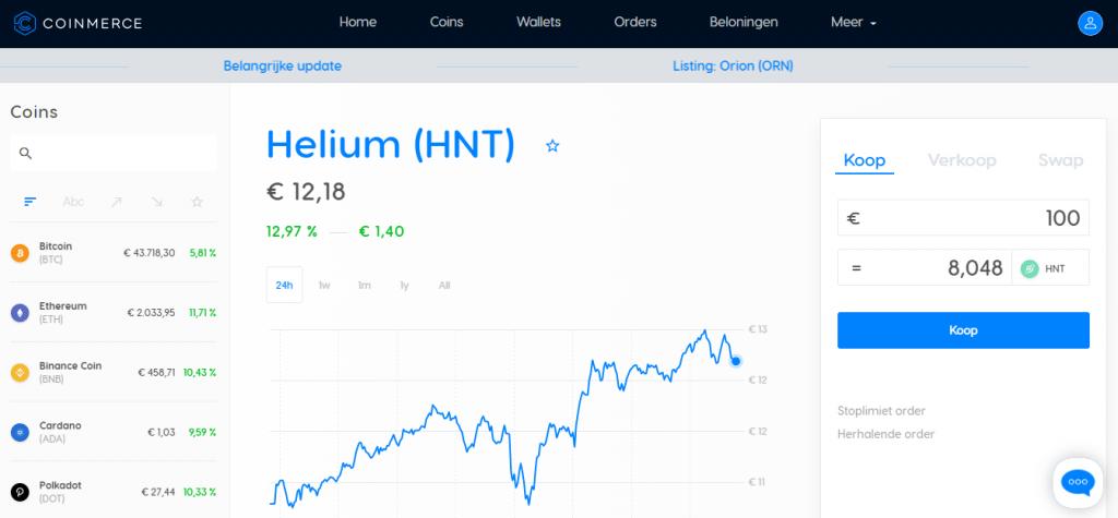 Helium crypto kopen HNT